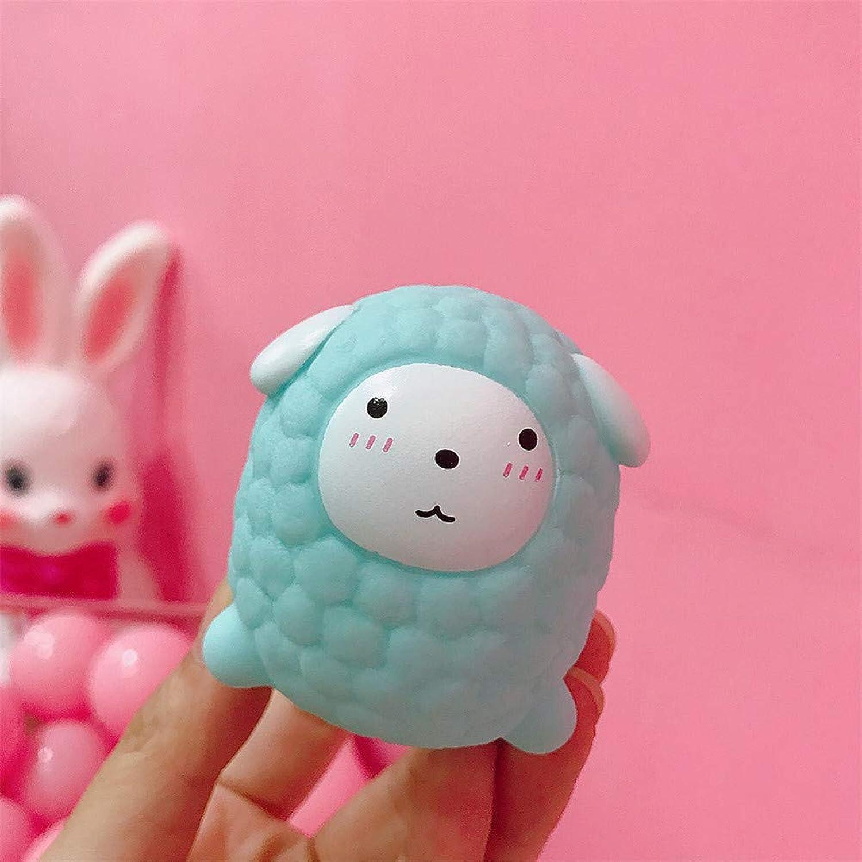 ACHICOO 水遊びのおもちゃ かわいい 小さな羊の形 音 赤ちゃん ランダムな絵文字 3#青い小さな羊