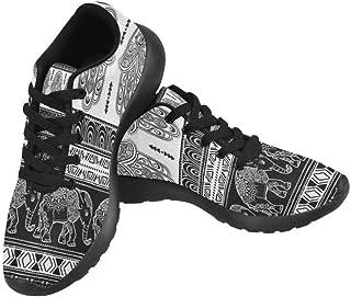 InterestPrint Women's Casual Flats Soft Running Walking Shoes