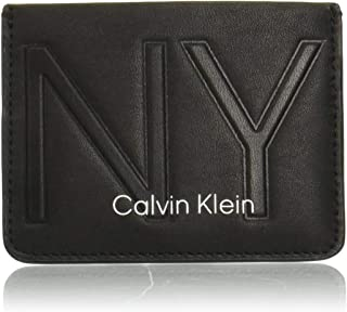 Calvin Klein NY Shaped New Card Holder Wallet, Black, 11 cm, K50K505315