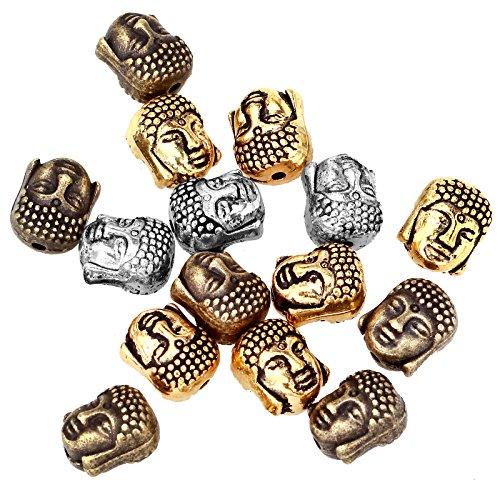 ILOVEDIY 20Stück Buddha Kopf Perlen Beads (Mixed zufällig)