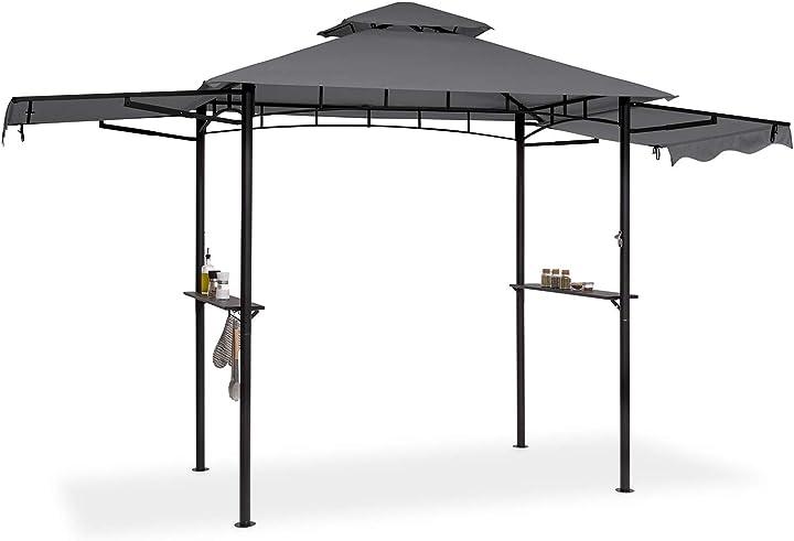 blumfeldt gazebo per barbecue dimensioni: 235 x 242 x 145 cm (lxaxp) parasole/parapioggia: poliestere 160g gdw28-90300-yght