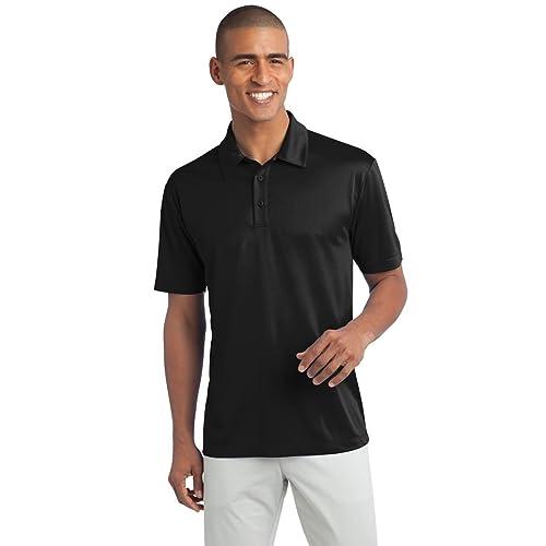 29333ce4a494 Men's Big & Tall Short Sleeve Moisture Wicking Silk Touch Polo Shirt