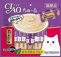 (まとめ買い)いなばペットフード CIAO ちゅ~る かつお ほたてミックス味 14g×20本入り SC-192 猫用 【×4】