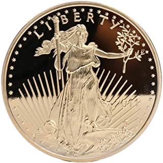 Konvinit Commemorative Coin, President Trump Statue of Liberty Novelty Souvenir Coin with Silvery Finish (Silvery)