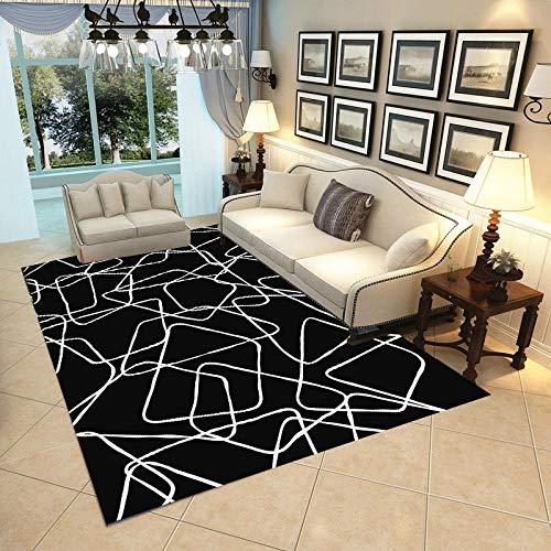 HXJHWB Alfombra Pelo Corto Diseño para - Alfombra Abstracta geométrica Simple para el hogar, Sala de Estar, sofá de Estudio, Mesa de Centro, Antideslizante y Resistente a la Suciedad-El 140CMx200CM