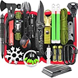 Gifts for Men Dad Husband, Professional Camping Survival Gear and Equipment 32 in 1, Cool Gadgets Stuff Tactical First Aid Supplies Kit for Outdoor Fishing Hiking Hunting Adventures