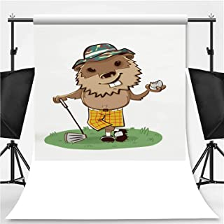 Gopher Golf Theme Backdrop Cartoon Backdrops Photography Backdrop,164274,10x20ft