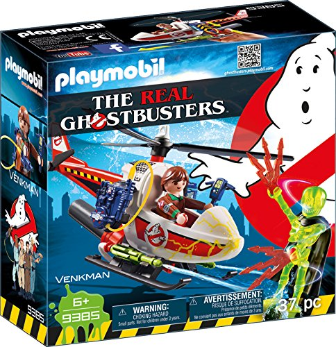 PLAYMOBIL Ghostbusters 9385 Venkman mit Helikopter & echter Wasserspritze, Ab 6 Jahren