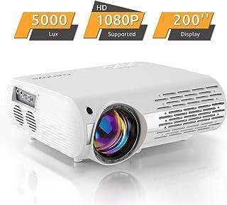 Vidéoprojecteur 6000 lux, Crenova Projecteur 1080P Full HD Supporté Portable..
