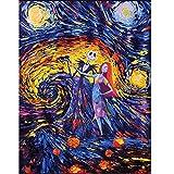 Kit de pintura de diamante 5D DIY Cielo estrellado de van gogh diamond painting por número Completo Taladro Rhinestone Bordado punto de cruz lienzo arte decoración de la pared del hogar 50x60cm S5758