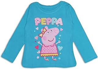 Peppa Pig Camiseta de algodón de manga larga para niñas