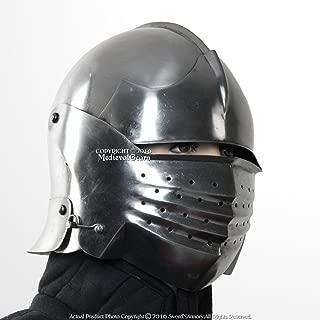 Medieval Gears Brand 16G Steel Italian Sallet Medieval Functional Sparring Helmet WMA SCA LARP