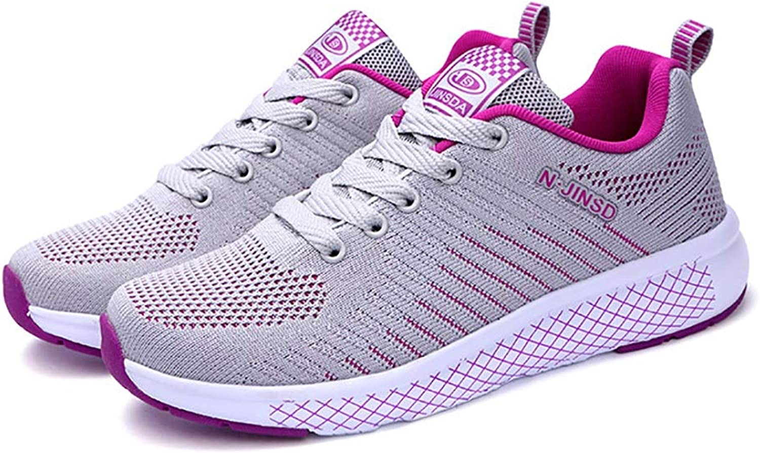 Women's shoes Knit Sport shoes Light Hiking Sneaker Spring Fall Shock Absorption Breathable Casual shoes Trainers shoes Camping Gym Walking (color   C, Size   40)