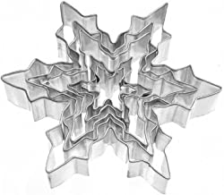 Tesoar 5Pcs Snowflake Ice Crystal Cookie Cutter