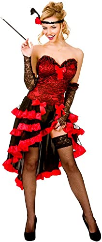 Ladies Wild West Showgirl Costume Saloon Can Can Wild West Baroque Fancy Robe (XS) Extra petit UK 6-8 Bust 31-33  Waist 25-26  Hips 34-36