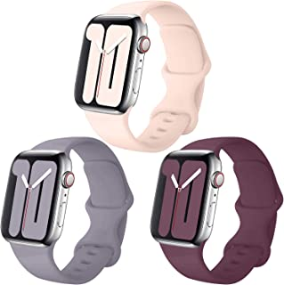 Pack 3 Compatible with Apple Watch Band 38mm 40mm 42mm 44mm,for iWatch Series 5, 4, 3, 2, 1