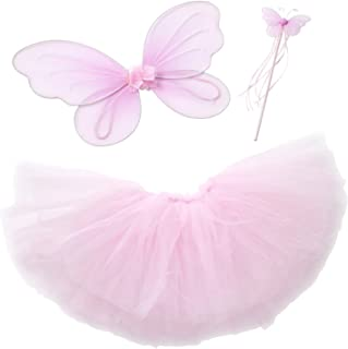 Pink Fairy Princess Tutu Set for Girls Dress up (S 1-2 yrs Old)