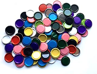 HAWORTHS 200 PCS Flat Decorative Bottle Cap Craft Bottle Stickers Double Sideds Printed Hair Bows, DIY Pendants Craft ScraPbooks Mixed Colors(10colors)