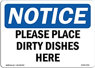 place dirty dishes here sign