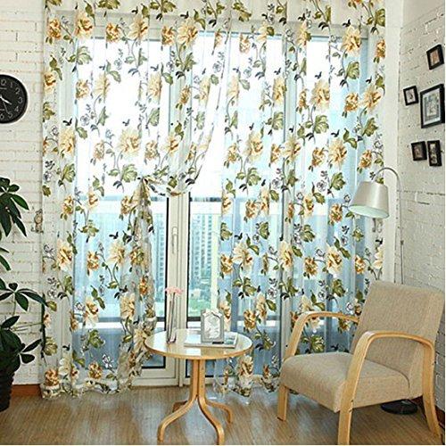 cortinas gasa marron
