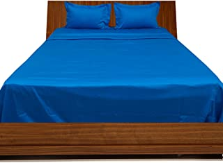 Relaxare Full XL 300TC 100% Egyptian Cotton Turquoise Solid 4PCs WaterBed Sheet Solid (Pocket Size: 25 inches)