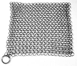 Knapp Made 7mm Chainmail Scrubber, Large, Silver