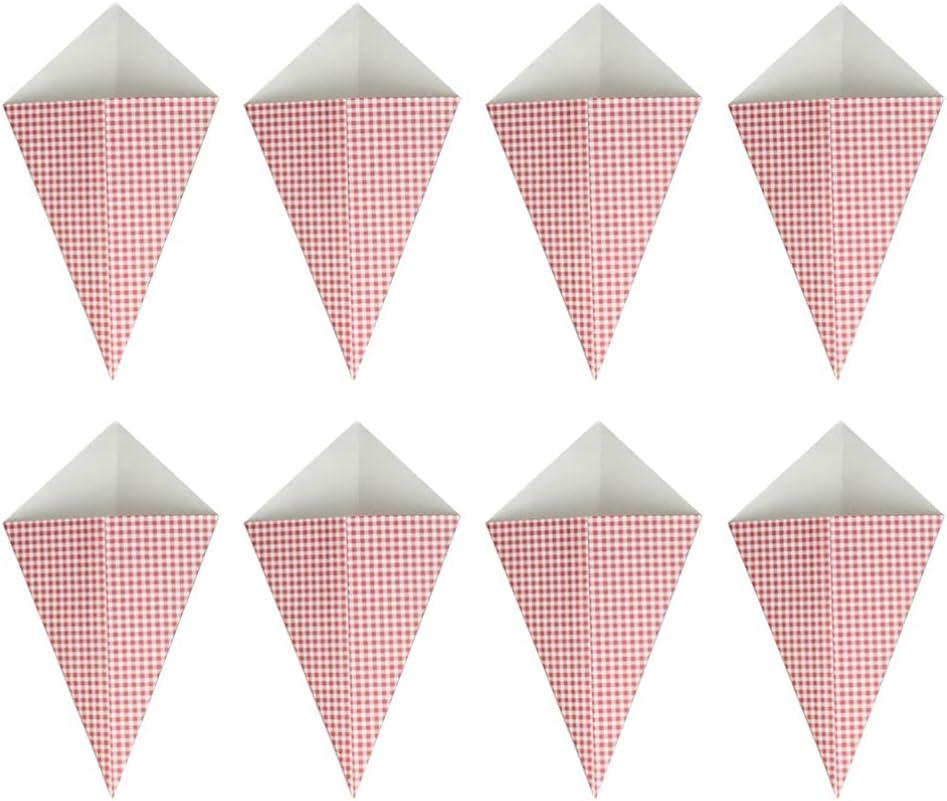 IMIKEYA 50pcs French Fries Box Triangle Kraft Paper Snack Contai