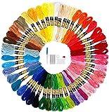 Madejas Bordado Hilos de Aleatorio Colores Algodón Bordado Kit 100 Madejas de Hilos para Bordar Hilospara Costura Punto de Cruz
