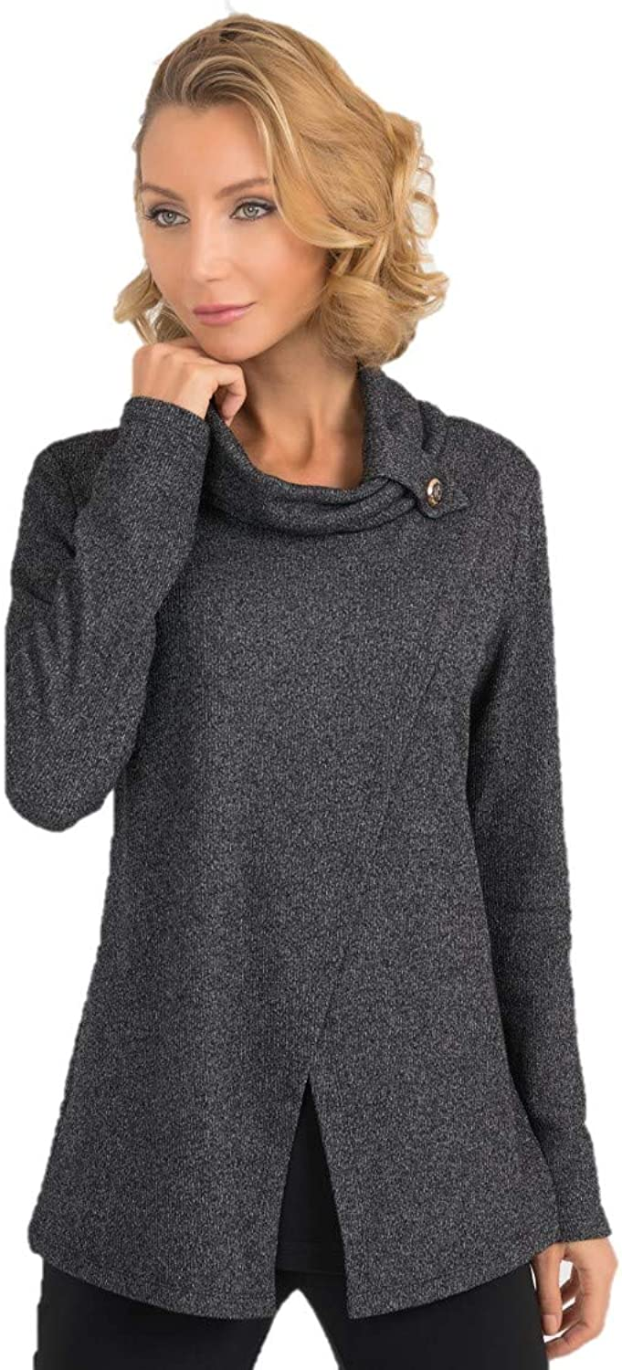 Joseph Ribkoff Charcoal Grey Top Style  193615 Fall 2019 Collection