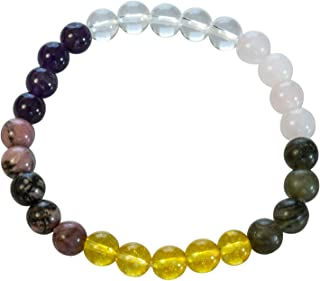 Divine Magic Stretchy Authentic Chakra Balancing Healing Crystal Gemstone Jewelry Diabetes Bracelet Health Protection for ...