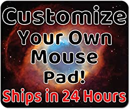 Personalized Mouse Pad - Add Pictures, Text, Logo Or Art Design and Make Your own Customized Mousepad. Each Custom Mouse mat Comes in a Colorful Gift Bag. Personalized Your Gaming Mousepad.