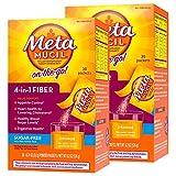 Metamucil On-the-Go, Psyllium Husk Fiber Supplement, 4-in-1 Fiber for Digestive Health, Sugar Free, Orange Flavored, 30 packets (Pack of 2)