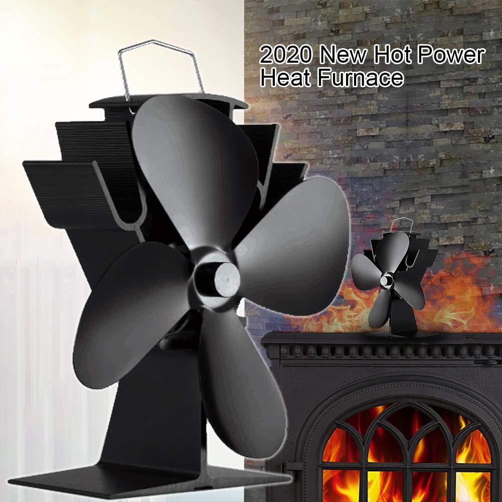 Hot Power Heat Furnace - Ventilador para chimenea (funcionamiento ...