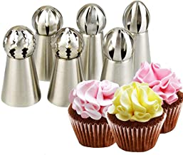 Hofumix Russian Piping Tips  Sets Russian Ball Tips Buttercream DIY Baking Tools School Prevailing Torch Russian  Nozzles ...