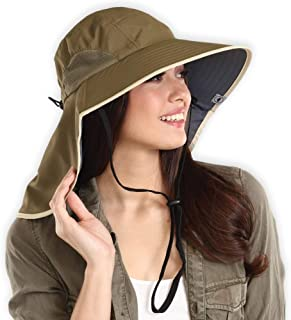 Fishing Hat w/UV Sun Protection for Hiking, Safari, Camping, Outdoors, Gardening, Summer - Wide Brim Boonie Hat - UPF 50+