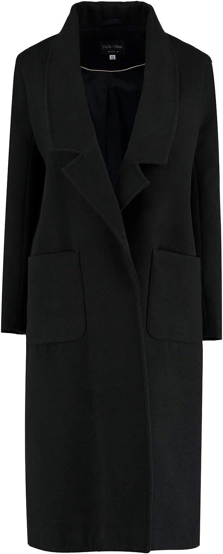 De La Creme  Red Womens Winter Faux Wool Long Coat