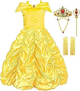 4ed8d1731b7cb KABETY Robe de Princesse Belle Hors épaule Robe de Fille Cosplay Costume