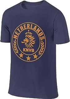 Syins Men's Custom Classic Tee Shirt Netherlands National Soccer Team Round Crest Tshirt