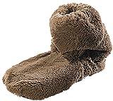 infactory Calcetines para microondas: botas calentables con relleno de semillas de linaza, marrón,...