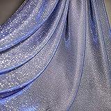 CHWK Premium Lila W/Silber Glitter Sparkle Stretch Tüll