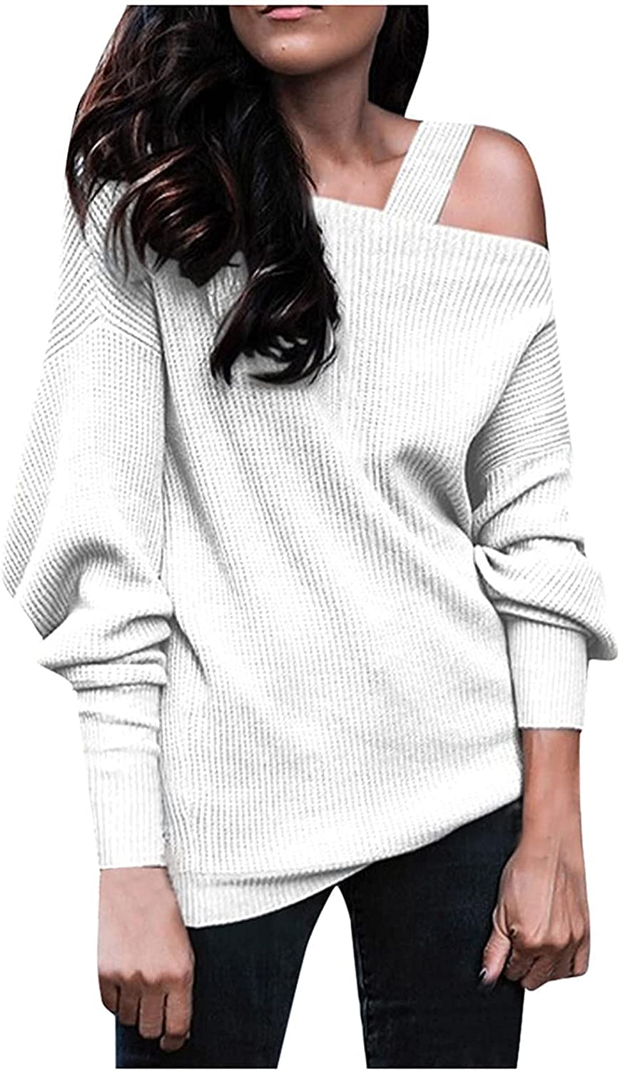 quality assurance Chicago Mall Laibory Women Strap Cold Shoulder Slee Fashion Long Tops Batwing
