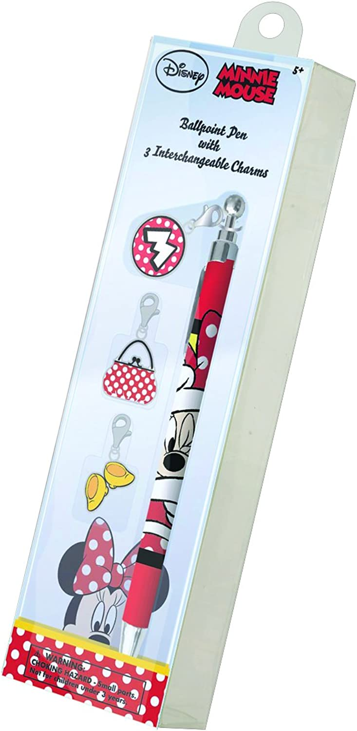 National Design Disney's Minnie My Charmed Life Pen with Bonus Charms (1 Pack)
