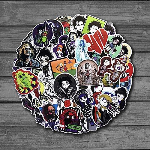 ZZHH Classic Movie Stickers Kids On The Laptop Fridge Phone Skateboard Suitcase Sticker 61Pcs