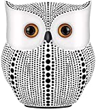 kikitoy Owl Statue Home Decor Accents (White),Small Crafted owl Figurine for Home Decorations, Living Room Bedroom Office Decoration.Buhos Bookshelf,TV Stand,Bedside Stand Decor