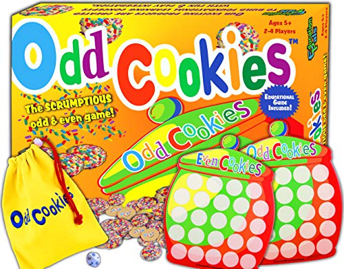 Odd Cookies™ - Cool math games for kids - Best counting & odd & even learning board game – Top educational toys to play for boys & girls & family – Prime gift for school students. Ages 3 & up.