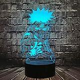 Uzumaki Naruto - Lámpara de noche LED de intensidad regulable 3D USB con mando a distancia con sensor de movimiento, lámpara de lava, Navidad, recuerdo para niña, niños, juguetes para bebé