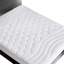 Bedsure Twin XL Mattress Pad Deep Pocket - Quilted Mattress Cover Extra Long for College Dorm PillowTop Hospital Mattress Protector, Fitted Sheet Mattress Cover, 39x80 inches, White