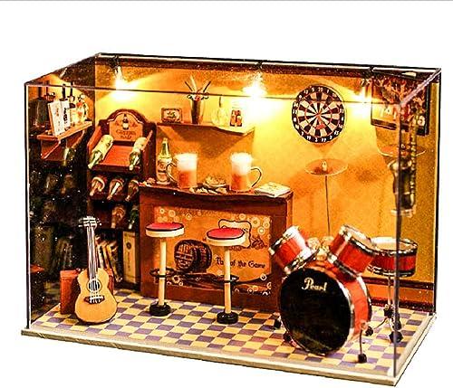 YELLO Intéressant Dollhouse Amour U à Jamais Ours 3D Assemblée DIY Ménage Maison Créative Kit avec LED Lumière Cadeau d'anniversaire