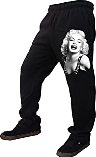 Men's Classic Marilyn Monroe Sweatpants Black Fleece S-2XL