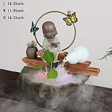 Ceramic Fountain,Fengshui Indoor Decoration Buddhism fengshui Fountain Figurines Zen Tabletop Water Fountain Buddha Founta...